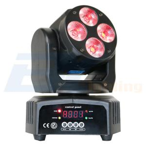 BY-9412 4X12W 6in1 RGBWA+UV LED Mini Wash Moving Head