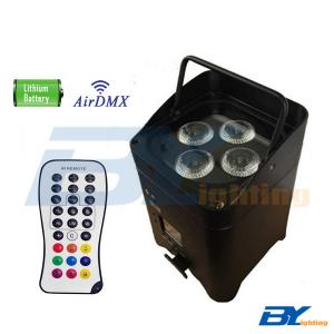BY-864C 4x15W RGBWA+UV 6in1  Mini LED wireless rechargeable battery uplighting with IR remote control