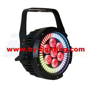 BY-6107S 7X12W RGBWA+UV 6in1 LED+ 144X0.2W RGB 3in1 LED PAR