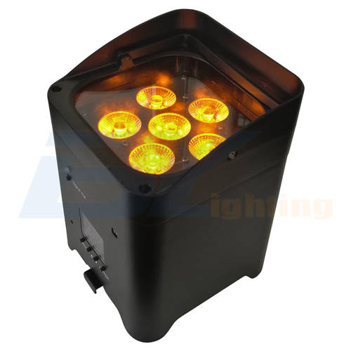 BY-866A 6 x 15W 6 in 1 RGBWA+UVLED Wireless DJ Uplighting With Rechargeable Battery and Mobile App Control